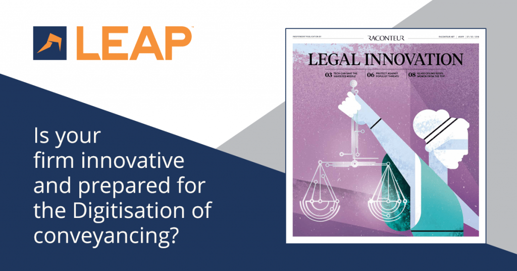 Digitisation of conveyancing: a key opportunity for law firms to innovate